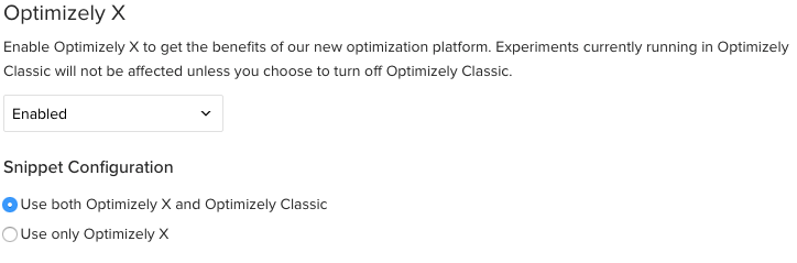 Optimizely Snippet